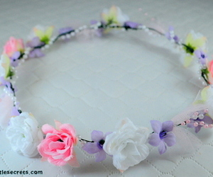 crown, fashion, and floral image