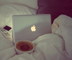 bed, bliss, and coffee image