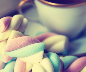 sweet, food, and marshmallow image