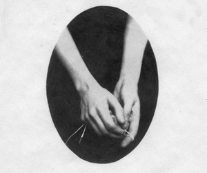 hands, black and white, and vintage image