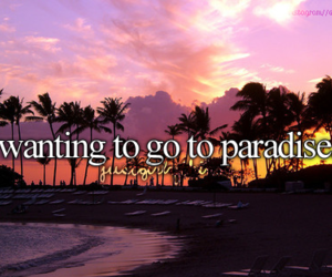 paradise and quote image