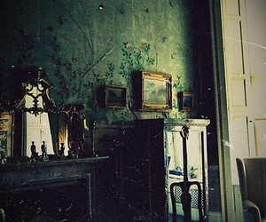 room, green, and vintage image