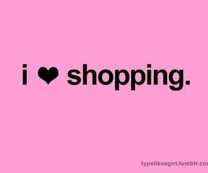 shopping, love, and pink image
