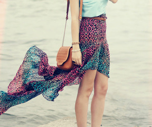 chic, fashion, and skirt image