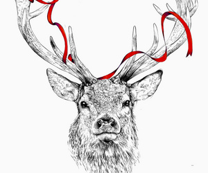 deer and ribbon image