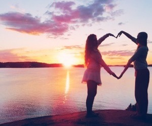 best friends, heart, and friends image