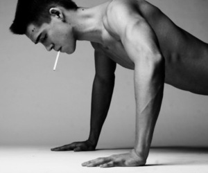 cigarette, guy, and man image