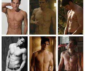 damon, stefan, and Hot image