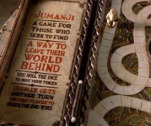 jumanji, game, and movie image