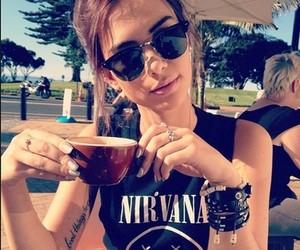 girl, nirvana, and tattoo image