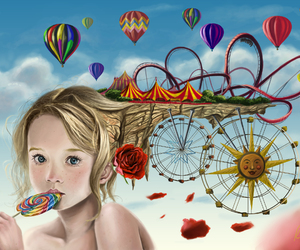 girl, art, and imagination image