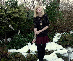 beautiful, blonde, and snow image