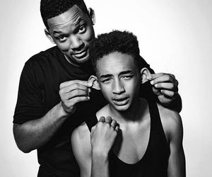 jaden smith, will smith, and son image
