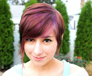 color, hair, and purple image