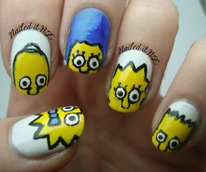 funny, nail art, and simpson image