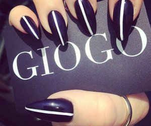 black and white, nails, and giogo image