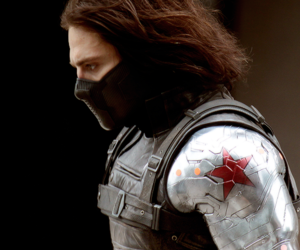 bucky, winter soldier, and Marvel image