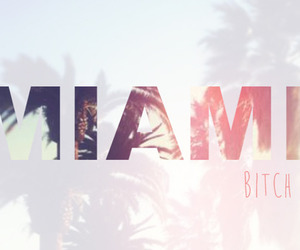 Miami, bitch, and summer image