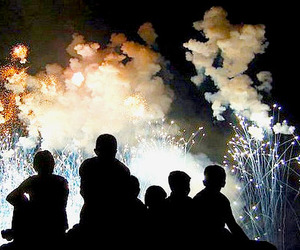 black, new year, and firework image
