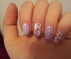 flowers and nail art image