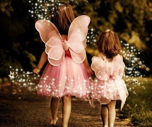 pink, child, and fairy image