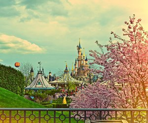 balloon, carrousel, and castle image