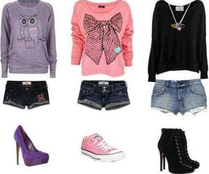 outfit, clothes, and shorts image