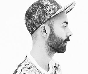 black and white, woodkid, and cap image