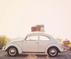 car, vintage, and travel image
