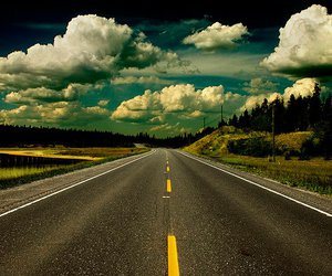 road, sky, and photography image