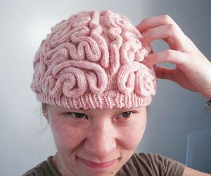 brain, hat, and pink image