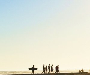 beach, surfer, and youth image