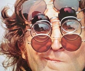 john lennon, glasses, and the beatles image
