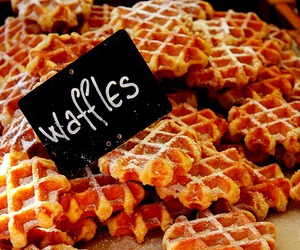food, photography, and waffles image