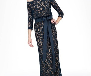 lace evening dresses and evening dresses with sash image