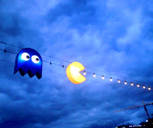 lights, pacman, and cute image