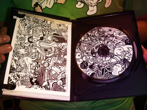 black and white, cd, and detailed image