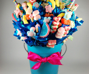 bucket, colorful, and ribbon image