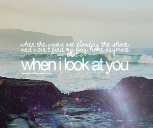 miley cyrus, when i look at you, and quote image