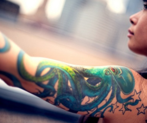 tattoo and octopus image