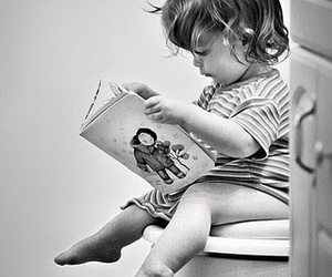 cute, baby, and book image