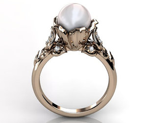 bridal jewelry, pearl jewelry, and vintage jewelry image