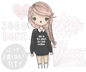 chibi, fashion, and quote image