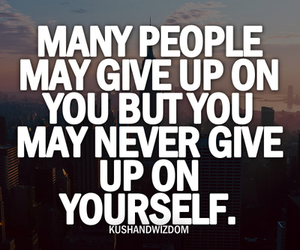give up, yourself, and people image