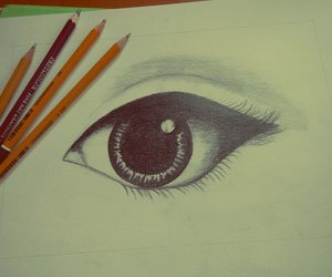 color, drawing, and eye image