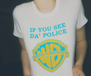 police, t-shirt, and funny image