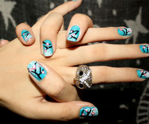 nails, ring, and blue image