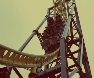 amusement park, fast, and Roller Coaster image