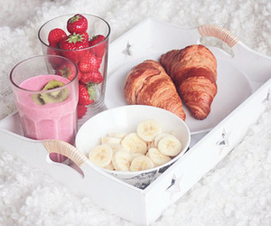 yummy, croissant, and fruit image