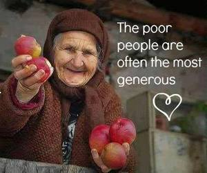poor, generous, and people image